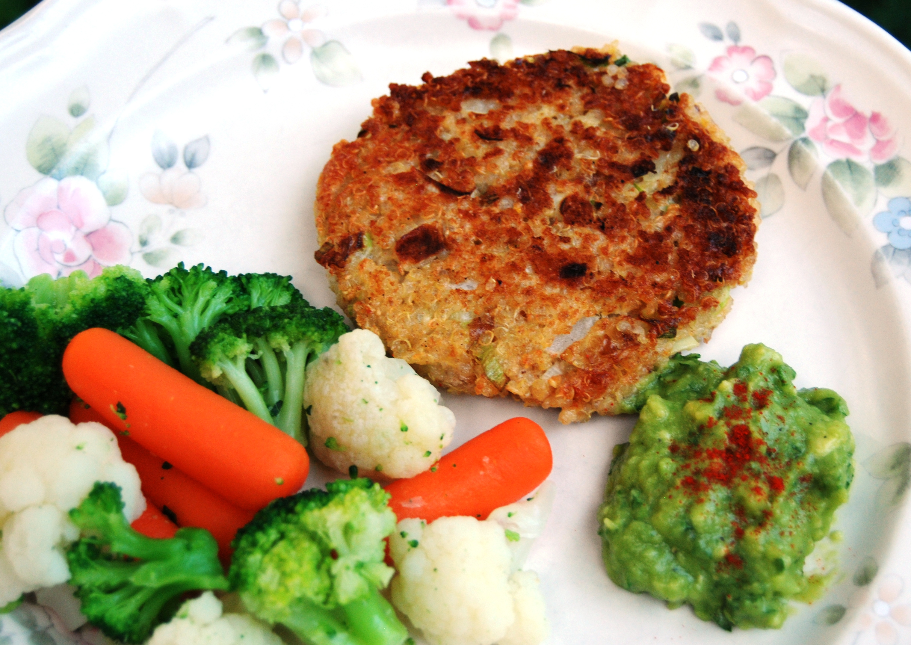 Little Quinoa Patties with Orange Avocado Sauce